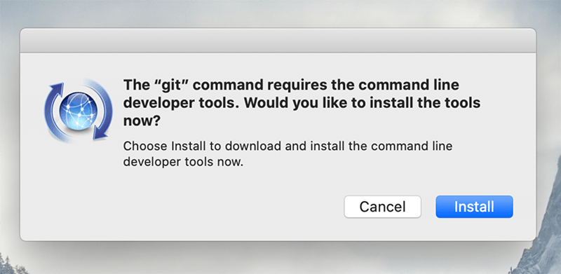 Mac git command requies command line developer tools